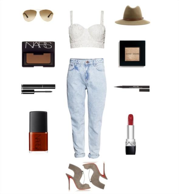 Mom Jeans + Bralette