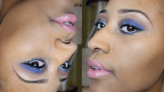 Dark Blue n' Orange Eyeshadow Makeup Tutorial