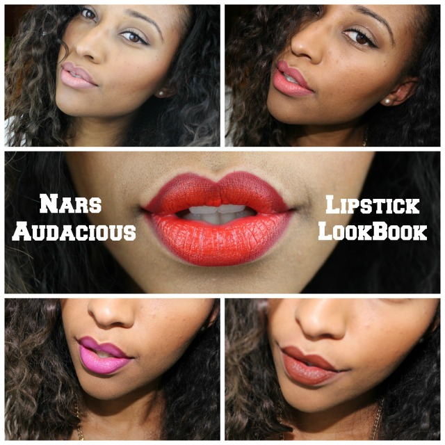 Top 5 Nars Audacious Lipsticks LookBook: Rachel, Juliette, Lana, Angela, n' Deborah