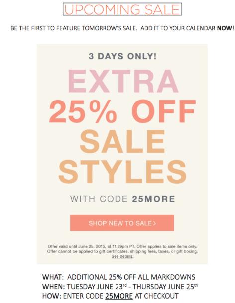 Shopbop Sale Code