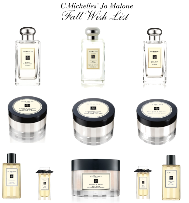 Jo Malone Fall Wish List