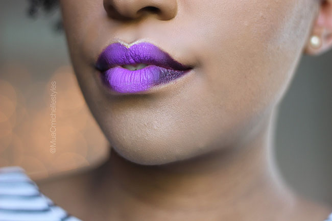 Purple Ombre Lip 2017